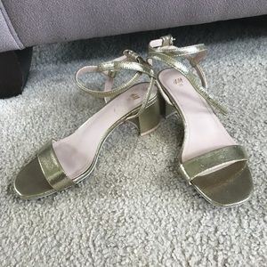 Gold H&M small heels